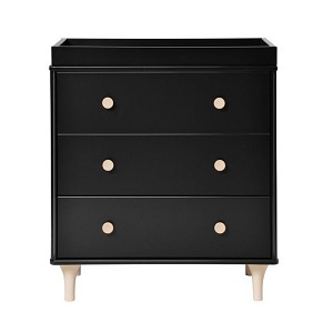 Babyletto Lolly 3 Drawer Changing Dresser - Black & Washed Natural