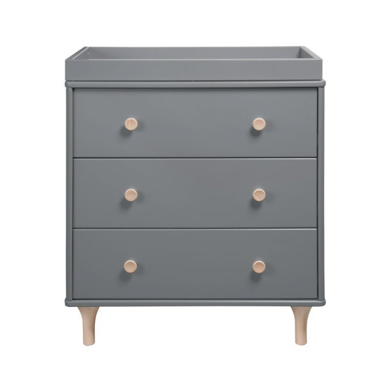 Babyletto Lolly 3 Drawer Changing Dresser - Grey & Washed Natural