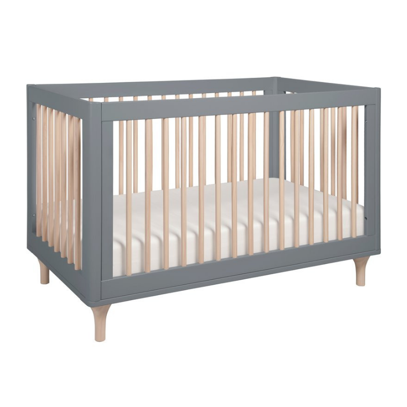 Babyletto Lolly 3 in 1 Crib - Grey & Washed Natural