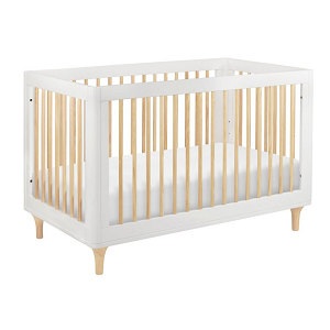 Babyletto Lolly 3 in 1 Crib - White & Natural