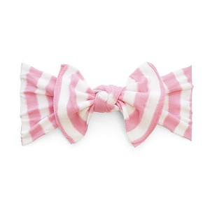 Bow Knot Headband - Pink Stripe