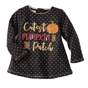 Mud Pie Cutest Pumpkin in the Patch Halloween Tunic
