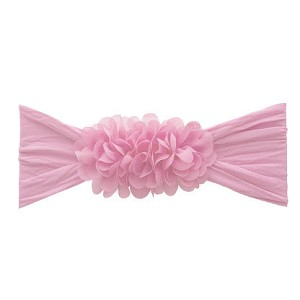 Chiffon Ruffle Headband - Light Pink