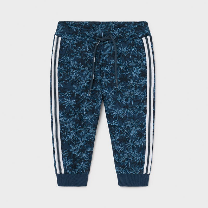 Mayoral Blue Palm Tree Pants