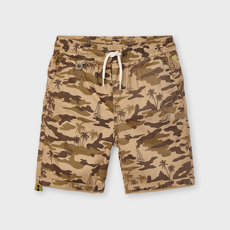 Almond Bermuda Shorts