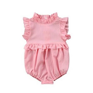 819b2d6f2be Spring Ruffles Bubble Romper in Pink