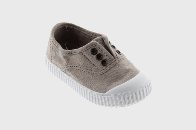 Grey Washed Canvas No Lace Shoes