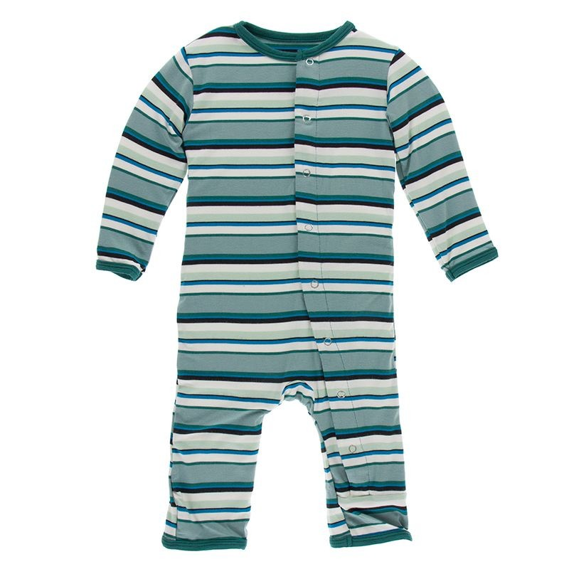 KicKee Pants Multi Stripe Agriculture Coverall