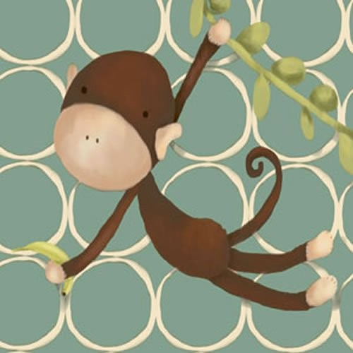Hanging Monkey Canvas Reproduction