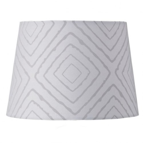 Living Textiles Grey Maze Lamp Shade