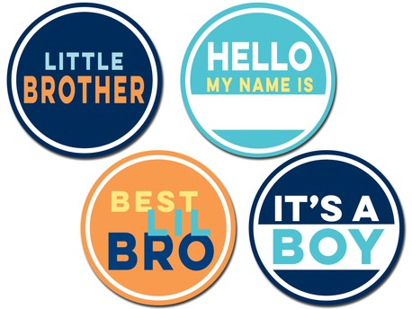 Sticky Bellies - Little Brother Stickers