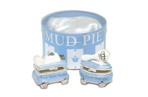 Mud Pie Prince Tooth Curl Treasure Box Set