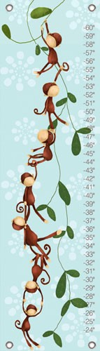 Blue Monkeying Around Oopsy Daisy Growth Chart
