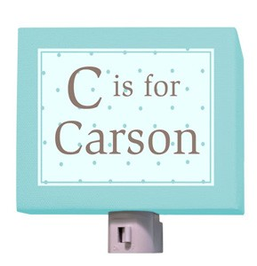 C is for Classic Boy Night Light -personalized