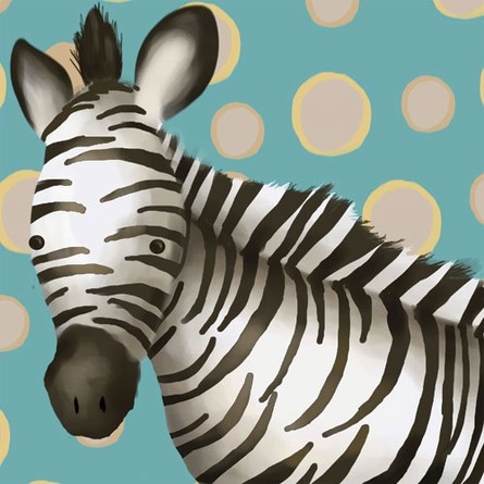 Timmy the Zebra Canvas Reproduction
