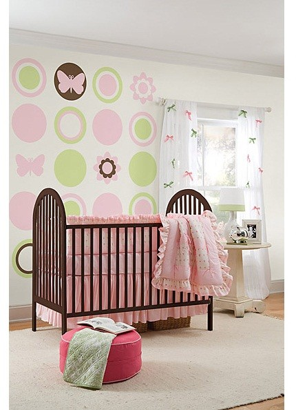WallPops Butterfly and Flower Silhouettes- GiGi Pink