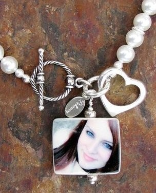 Swarovski Pearl Custom Photo Bracelet