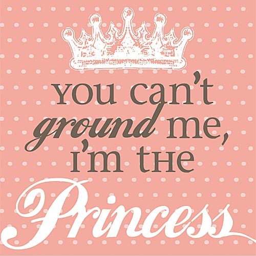 You Can't Ground Me Im the Princess Canvas