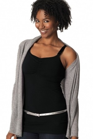 Glamourmom Nursing Bra Full Bust Long Top - Black