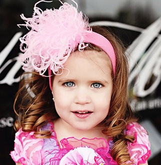 Candy Pink Curly Marabou Headband