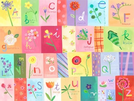 A-Z Flowers Canvas Reproduction