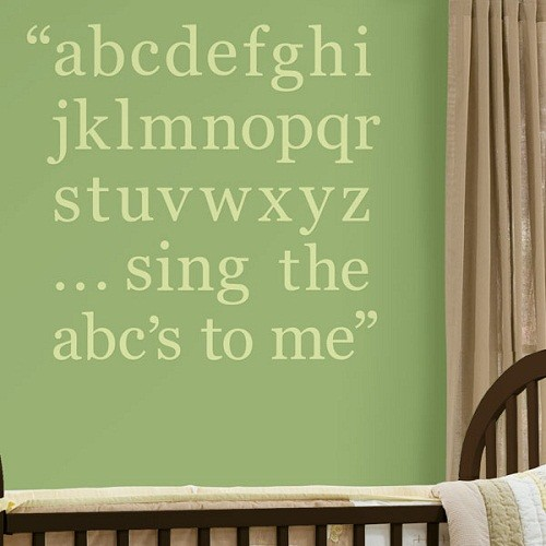 WallPops Pea Pod Green Alphabet Set