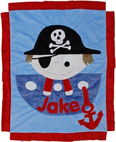 Personalized Pirate Boy Blanket