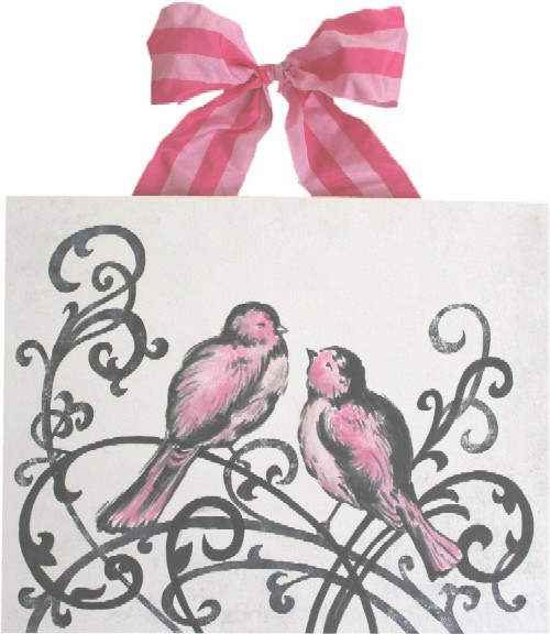 Elegant Love Birds - Bright Pink