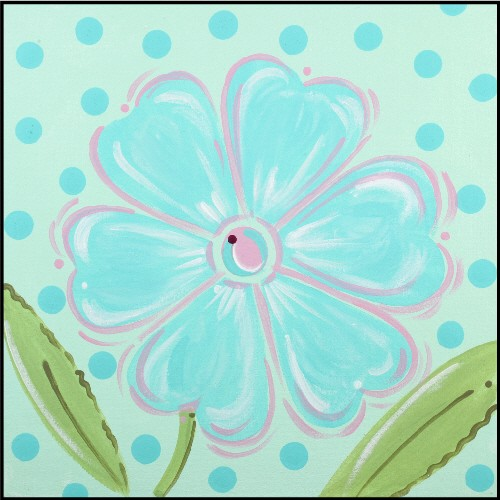 Aqua Daisy Imagination Square