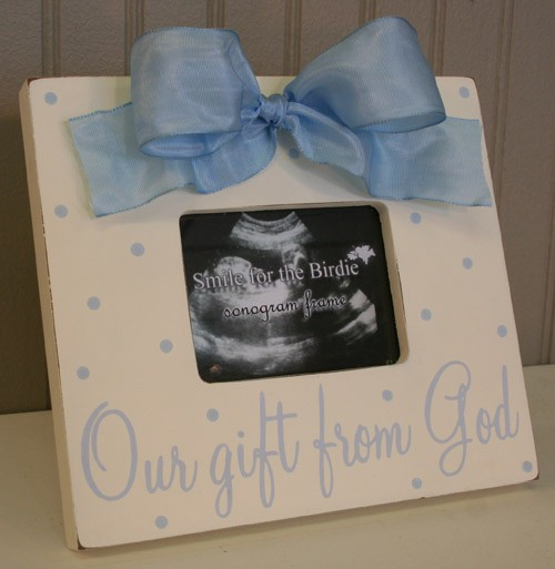Our gift from God Frame - Blue