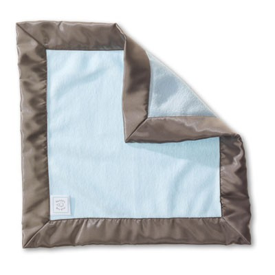 SwaddleDesigns - Baby Lovie- Pastel Blue Baby Velvet