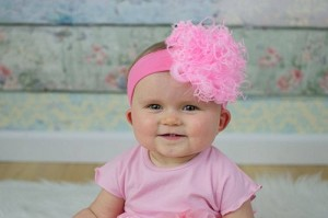Candy Pink Soft Headband with Small Curly Marabou