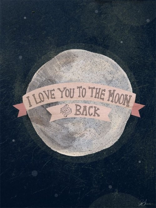 I Love You to The Moon and Back - Girl