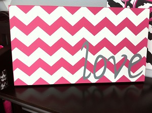 Twelve Timbers Chevron Love Wall Panel - Customizable!