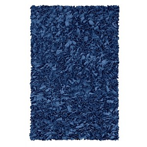Shaggy Raggy Rug - Dark Blue