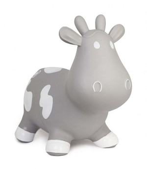 Trumpette Howdy Bouncy Cow - Grey
