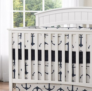 Liz and Roo Crib Bumpers - Anchors