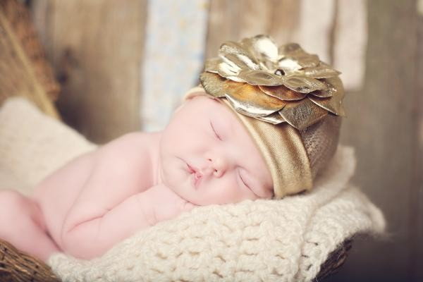 Gold Couture Hat with Metallic Gold Rose