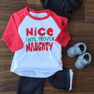 Naughty or Nice Baseball Tee