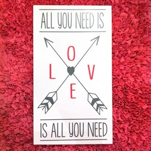 Twelve Timbers All You Need is Love Wall Panel - Customizable!