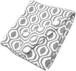 ABC Cotton Sweater Blanket - Gray Ogee