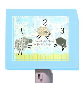 Counting Sheep Blue Night Light