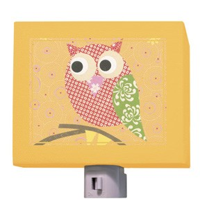 Mod Owl on Orange Night Light