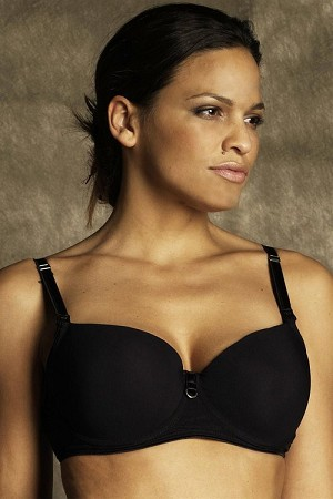 Bella Materna T-Shirt Nursing Bra Full Cup- Black