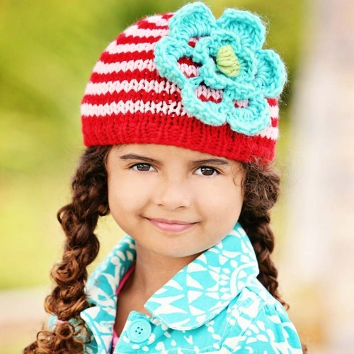 Festive Ziggy Beanie - Pink and Red