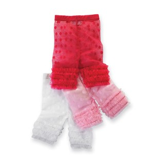 Mud Pie Pretty In Pink Lace Capri Leggings