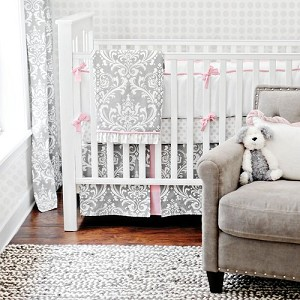 Stella Gray Baby Bedding - 3pc Set