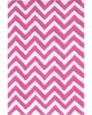 Chevron Rug Pink