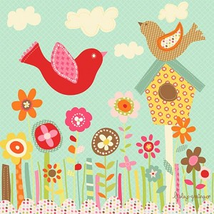 Pretty Birds Wall Art Reproduction