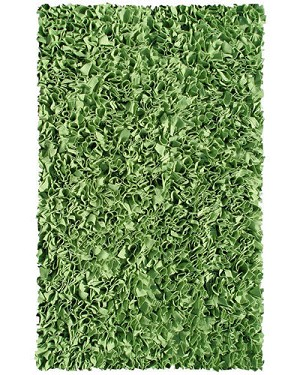 Shaggy Raggy Rug - Lime Green